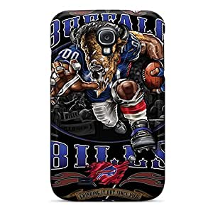 Scratch Protection Hard Phone Case For Samsung Galaxy S4 With Custom Realistic Buffalo Bills Series SherriFakhry