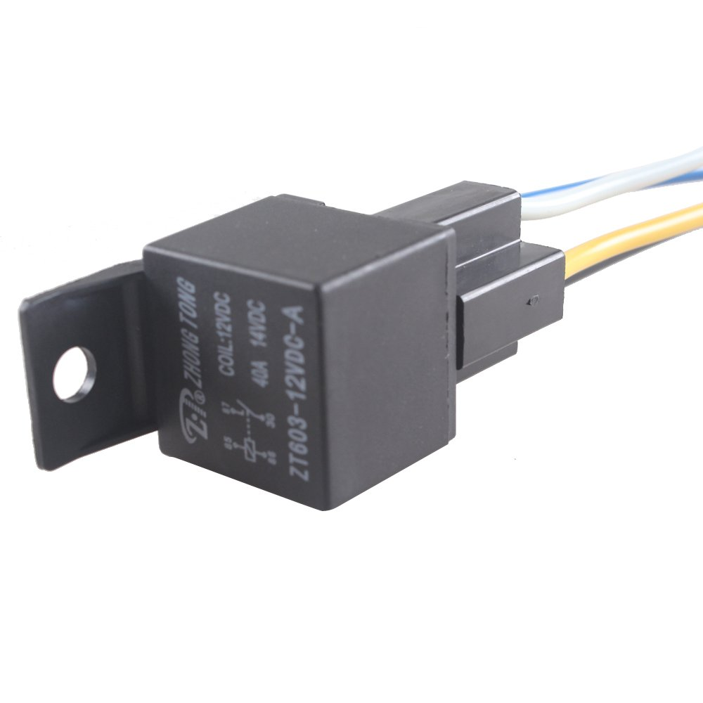 E Support Car Relay 12v 40a Spst 4pin Socket Pack Of 5 Iec Receptacle Wiring Diagram Automotive