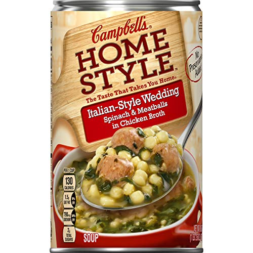 - Campbell's Homestyle Italian-Style Wedding Soup, 18.6 oz. (Pack of 12)