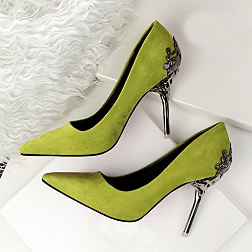 toe Color Shoe Pointed Green Lady's pump A8qwO5SY