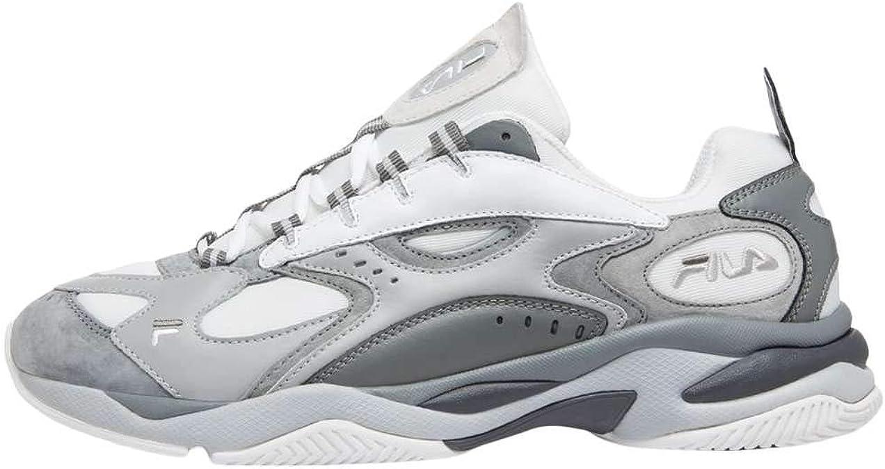 Fila Boveasorus - Zapatillas de deporte para hombre, color blanco y gris: Amazon.es: Zapatos y complementos