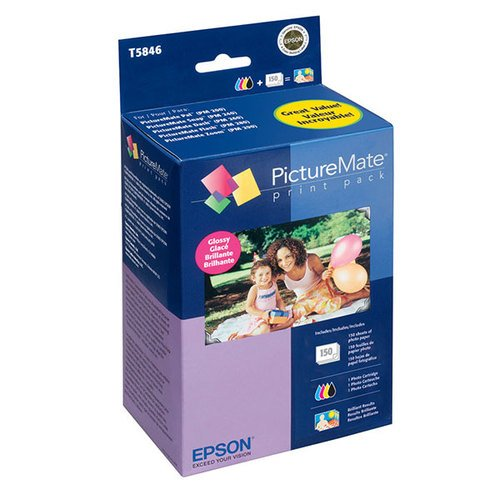 Epson Print Cartridge/Paper KIT - Color (Cyan Magenta Yellow Black) - 150 Pages