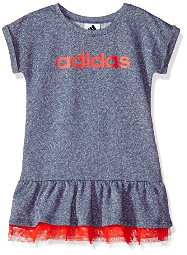 Adidas Mesh Polos - adidas Toddler Girls' Active Polo Dress, Noble Indigo Sparkle HTR Adi, 3T