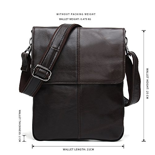 Kleiner Unisex Messenger-Bag / Herrentasche aus geöltem Buffalo Leder Joyir