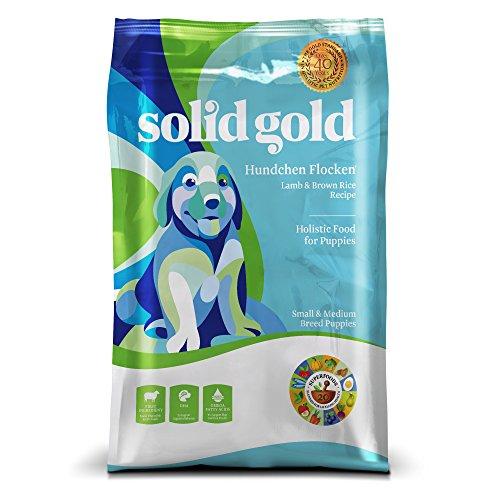 Solid Gold Hundchen Flocken Holistic Dry Dog Food, Lamb, Brown Rice & Pearled Barley, Moderately Active Puppies, Small & Medium, 28lb Bag