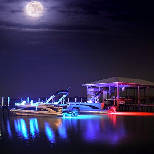 Lumitec Lighting 101460 Spectrum Full-Color RGB Zambezi Quattro Surface Mount LED Underwater Light
