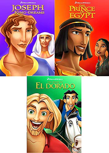 Book & Stories Animated Prince of Egypt / Road to El Dorado & Joseph King of Dreams Triple Feature Dreamworks Family Cartoon Pack (Prince Of Egypt And Joseph King Of Dreams)
