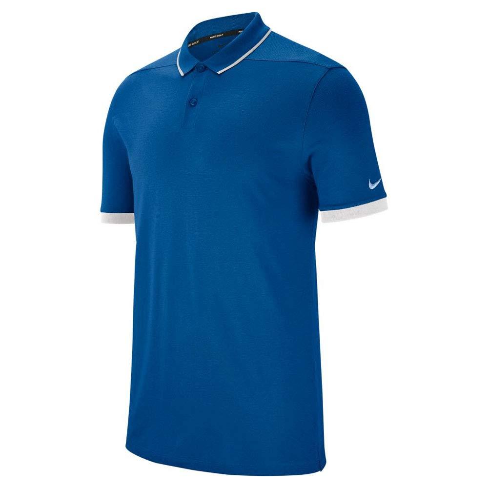 ナイキ ドライピケ クラシック ゴルフポロ 2018 Large Gym Blue/White/Royal Tint B07CP1Q9L8