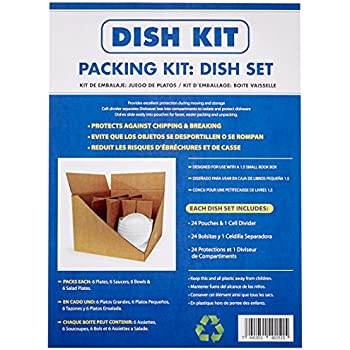 Uboxes Dish Cell Divider Kit Divider and Foam Pouches for Protecting Your Dishes