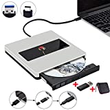 External DVD Drive NOLYTH USB C Superdrive External CD Drive Player Burner for Laptop/MacBook Air/Pro/Windows Made with Alumium Alloy Supported DVD±RW/CD±RW