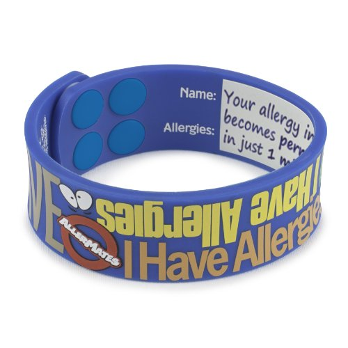 "AllerMates -""I Have Allergies"" Silicone Wristband"