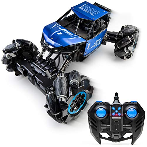 Power Your Fun Jive Dancing Car - Remote Control Monster Truck, RC Crawler 4x4, Stunt Cars for Kids, Blue