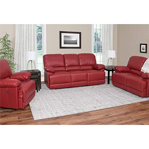 (CorLiving LZY-352-Z1 Lea Collection Reclining Sofa Set Red)