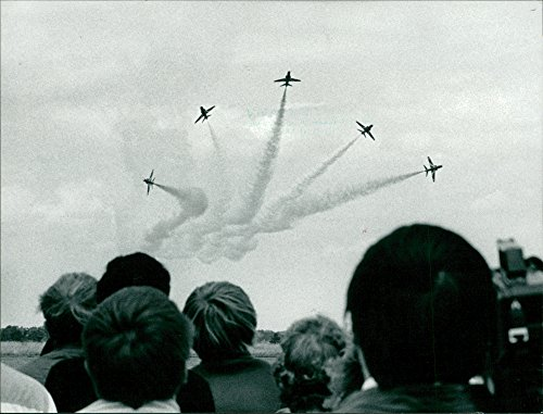 Vintage photo of Red Arrowed Norwich Airshow