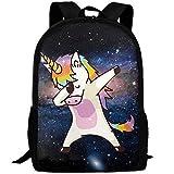 YIXKC Backpack Adult Hip Hop Unicorn Rainbow Unique Outdoor Multipurpose Shoulders Bag Daypacks
