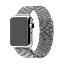 Apple Watch Band, iWatch Band, AsiaFly 42mm Milanese Loop Stainless Steel Bracelet Strap Band for Apple Watch 42mm All Models Silver
