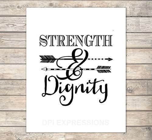 Dignity Wall: Amazon.com: Strength And Dignity, Proverbs 31:25