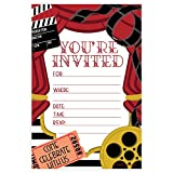 Movie Party Invitations - Fill In Style (20 Count) With Envelopes