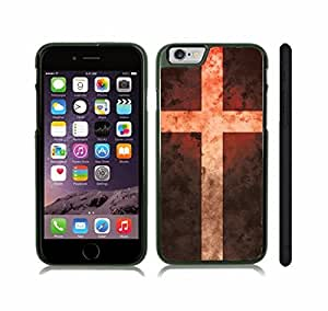 iStar Cases? iPhone 6 Plus Case with Denmark Flag Antique Grunge Look Design , Snap-on Cover, Hard Carrying Case (Black) by ruishername