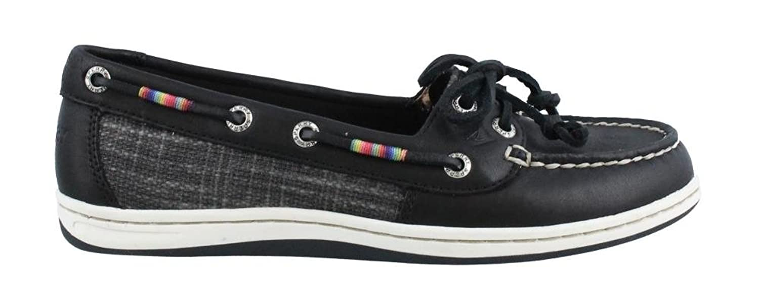Sperry Top-Sider Firefish Leather Rainbow Black Women's Lace up casual Shoes