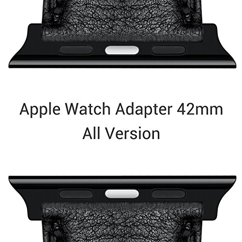 [Upgraded] Apple Watch Adapter 42mm, Benuo Smart Watch Stainless Steel Connector, Apple Watch Band Clasp for Apple Watch Series 2/1/Nike+/Edition(42mm, Black)