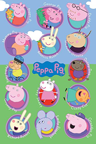 amazon com peppa pig tv show poster print characters names