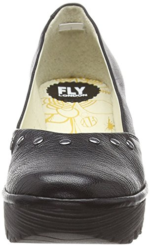 Fermé 000 Femme black Bout Escarpins London Noir Fly Yuzo905fly wpCqHFw