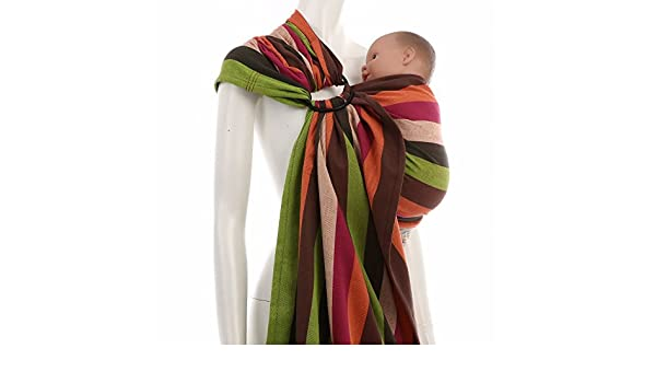 f3299a43d5b Amazon.com   Ring Sling Baby Carrier Daiesu Bougainvillea (Red)   Baby