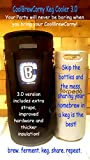 Home brew Keg Cooler. Beer Cooler for 5 gallon Keg, Corny and Cornelius Kegs from Cool Brewing. CoolBrewCorny