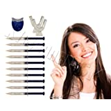 Extra Strength Teeth Whitening Kit; 12 Syringes of 44% Dentist Quality Tooth Whitener Gel and 2 Thermoforming Mouth Trays by Sunshine