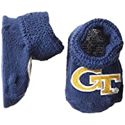 Two Feet Ahead NCAA Georgia Tech Infant Gift Box Booties, One Size, Navy