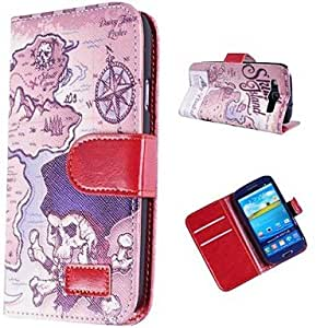 LZX Map Pattern Leather Case for SAM S3 I9300