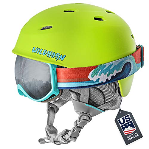 Image of the Wildhorn Spire Snow & Ski Helmet w/Goggles for Kids and Youth - ASTM Certified - US Ski Team Official Supplier