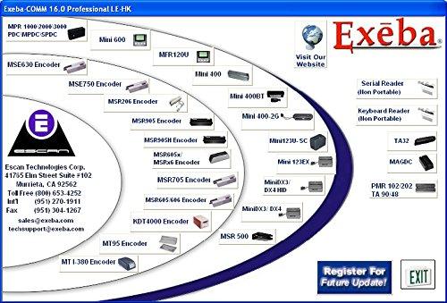 Exeba-COMM 16 0 LITE Magstripe Software with hardware key