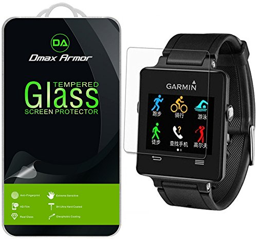 [2-Pack] Garmin Vivoactive Screen Protector, Dmax Armor [Tempered Glass] 0.3mm 9H Hardness, Anti-Scratch, Anti-Fingerprint, Bubble Free, Ultra-clear