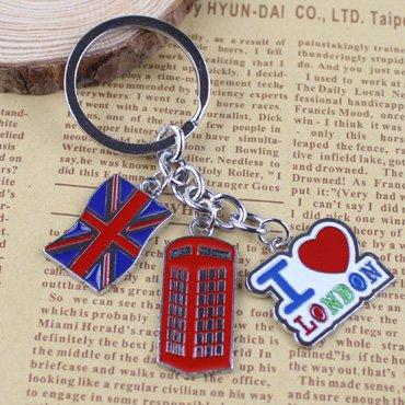 I Love London llavero, diseño La bandera del Reino Unido ...