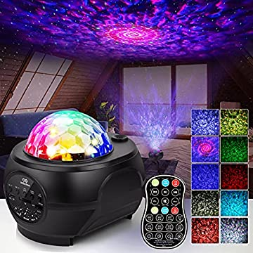 LED-Night-Light-Projector-3-in-1-Galaxy-Projector-Starry-Star-Light-Projector-Built-in-Bluetooth-Speaker-32-Colors-Ocean-Wave-Projector-Light-with-Remote-Control-for-Bedroom-Kids-Adults-Gifts-Decor