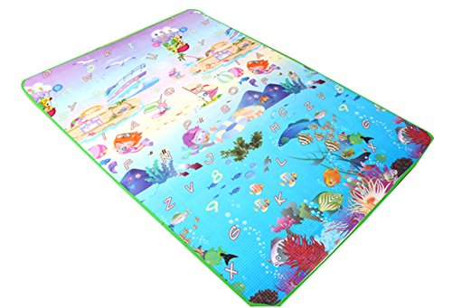 Baby Toddler Playing Mat Crawling Floor Pad with Carring Bag, Large Foam Playmat,Non-Toxic,Non-Slip 70.8