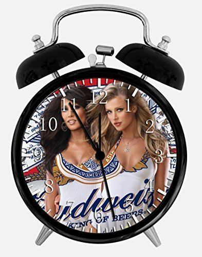 "Price comparison product image Sexy Beer Girls Alarm Desk Clock 3.75"" Home Office Decor Z77 Nice For Gifts"