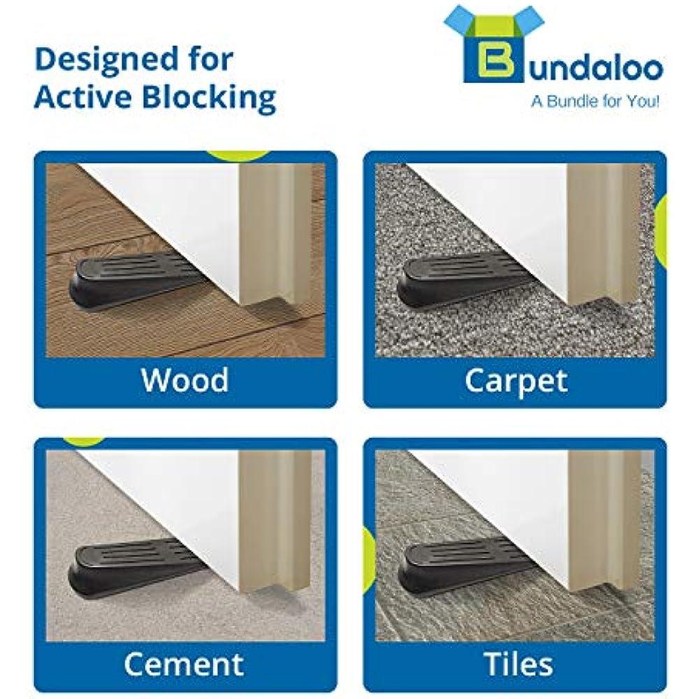 Door Wedge Pack of 4 Plastic Rubber Door Stopper Easy Solution for Hotel Home Office Residential Commercial Use Rubber Door Stop Door Stops Rubber