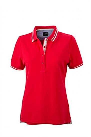 James & Nicholson Poloshirt Ladies Lifestyle Polo, Mujer: Amazon ...