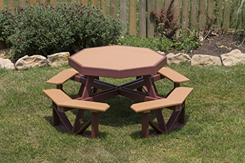 Poly Children's Outdoor Octagon Picnic Table Premium Colors Amish Made