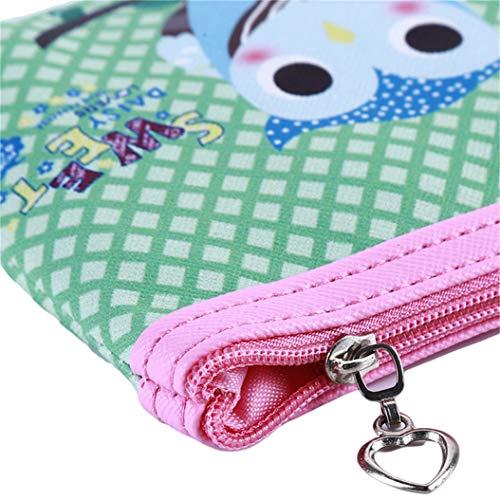 LZIYAN Cute Coin Purse Cartoon Owl Pattern Coin Purse Clutch Bag Portable Small Wallet With Zipper Storage Bag Creative Gift For Women,5# by LZIYAN (Image #5)