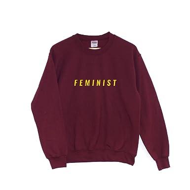 b8114e02 ChilledWorld - Feminist   Sweatshirt Girl Power Clothing Equal Rights  Feminism, Maroon, XXL: Amazon.co.uk: Clothing