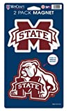 NCAA Mississippi State Bulldogs 2-pack Die Cut Magnet Set