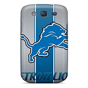 Top Quality Case Cover For Galaxy S3 Case With Nice Detroit Lions Logo Nfl Appearance