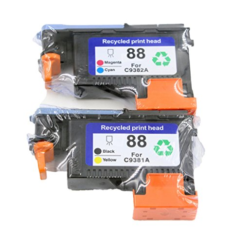 C9381a Printhead - ESTON 2 PACK 88 Printhead Replacement for 88 Print Head C9381A C9382A For office jet Pro K5400 K5400dtn K5400dn K5400tn