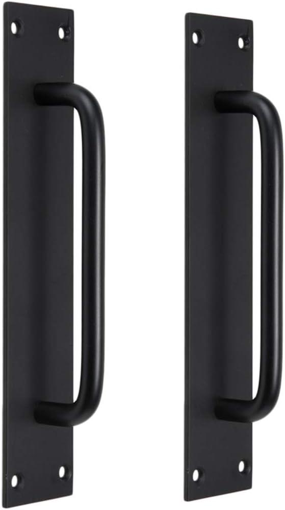 2x Tirador Moderno de Metal para Puerta Manija de Cocina Gabinete Asidero de Agarre de Mano - 5704 + negro