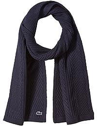 Men's Heavy Knit Wool Scarf with Tonal Croc