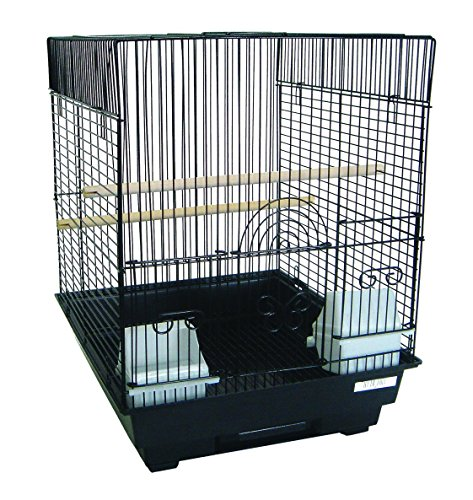(YML A5624 Bar Spacing Flat Top Cage, Black, 14 x 16 )